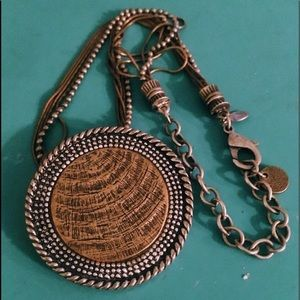 Chico's Beaded Pendent Necklace